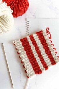 how to take your woven project from the loom