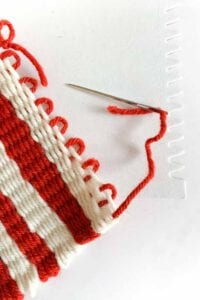 how to finish your weaving project
