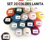 lanita wool collection set 20 colors