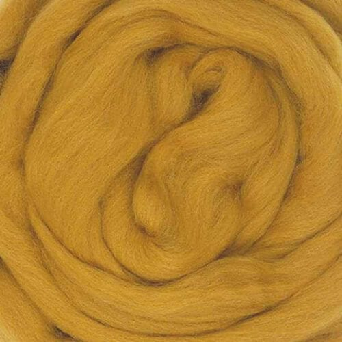 ochre ecological wool roving