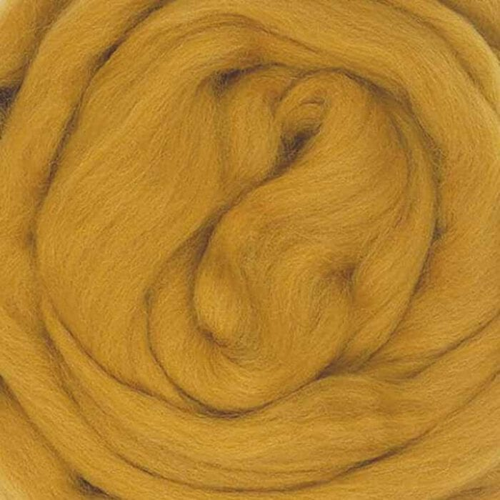 ochre ecological wool roving
