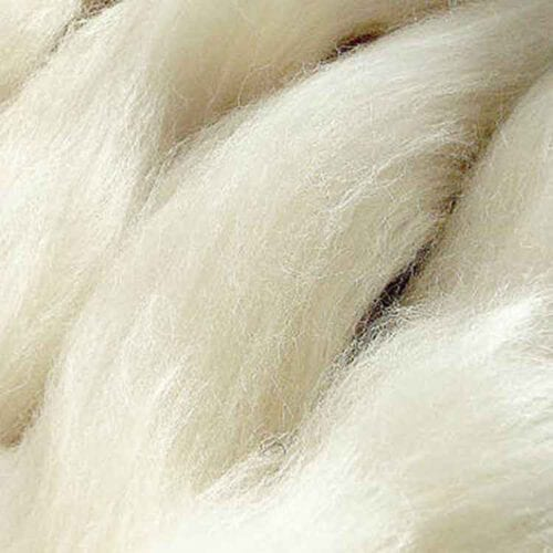 undyed wool roving with silk