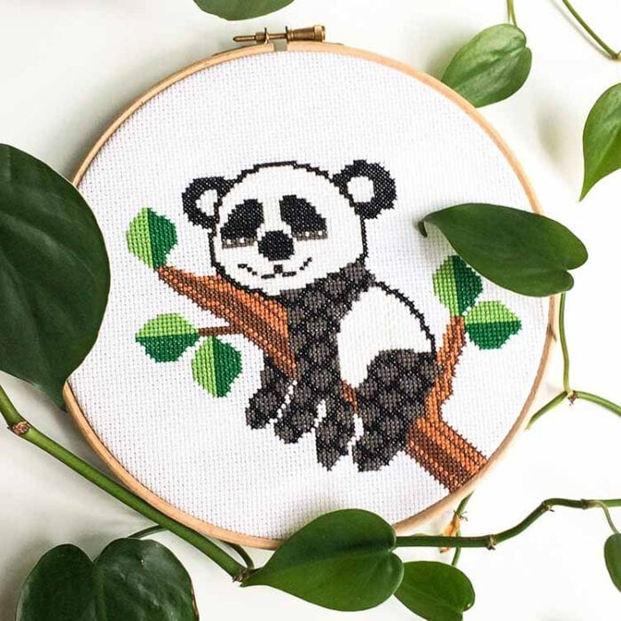 panda cross stitch kit