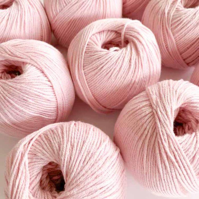sale 9 balls lyocell cotton soft pink-2