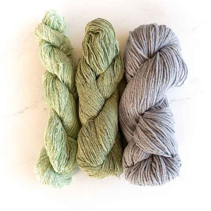 sale silk knitting yarn mix 29