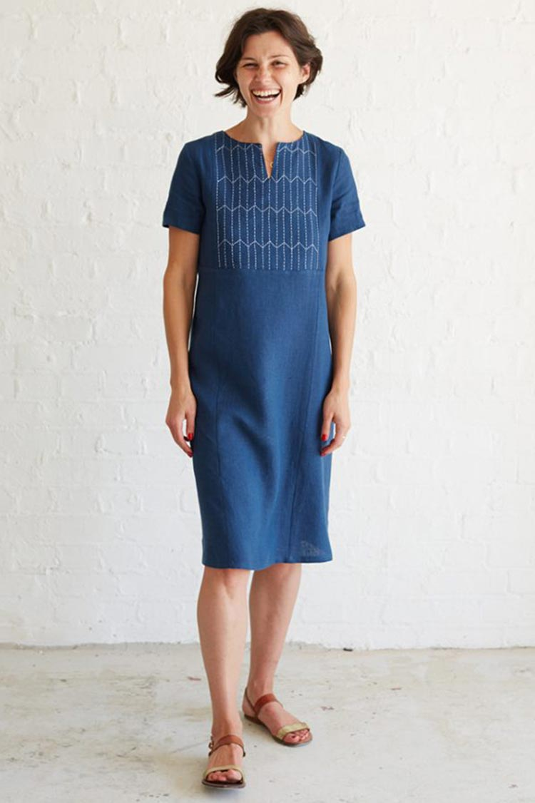 sashiko dress by fabric store