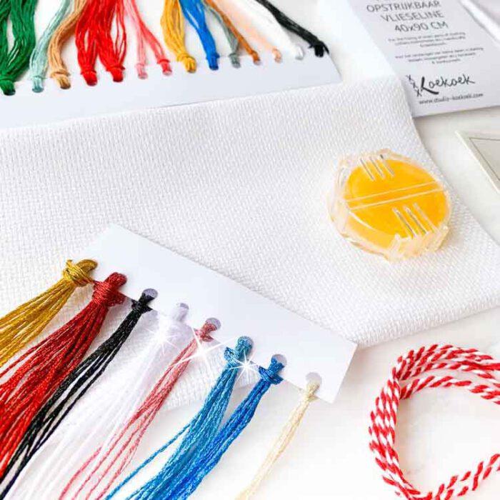 secret stitch along supplies glitter cross stitch kit