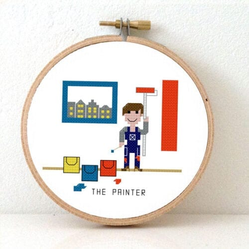 female diy yourself expert cross stitch pattern