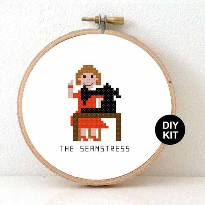 stitchajob - female seamstress cross stitch kit