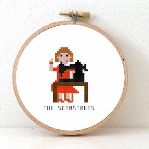 stitchajob - female seamstress cross stitch pattern