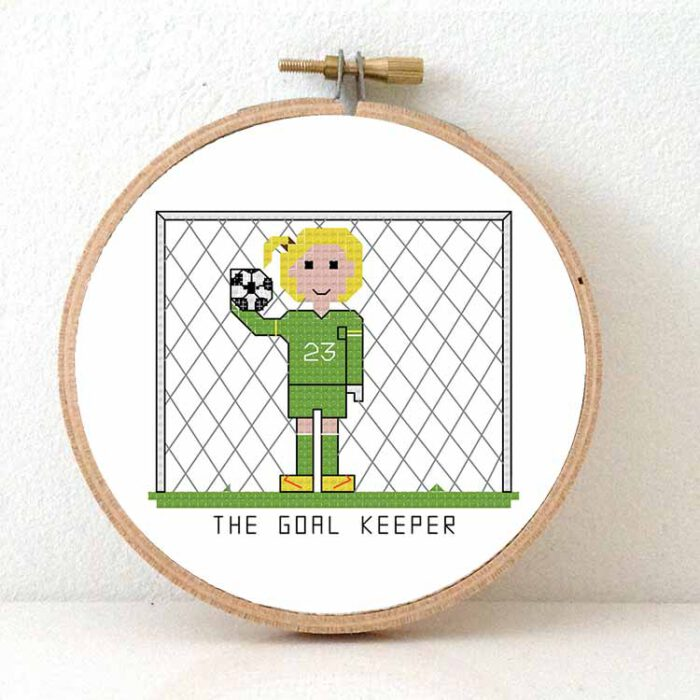goal keeper cross stitch pattern