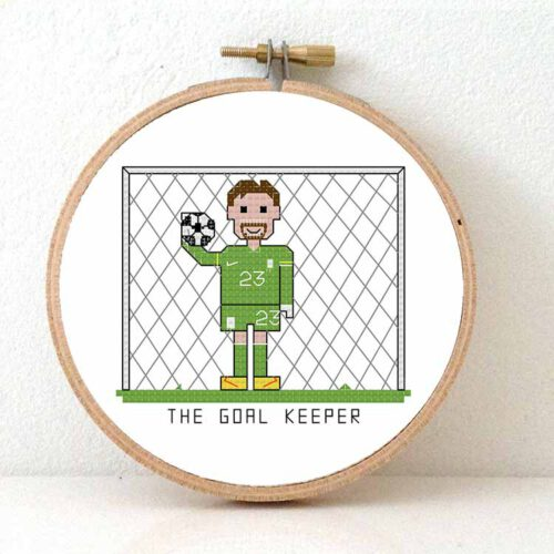 soccer goal keeper cross stitch pattern