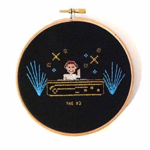 stitchajob male dj cross stitch pattern