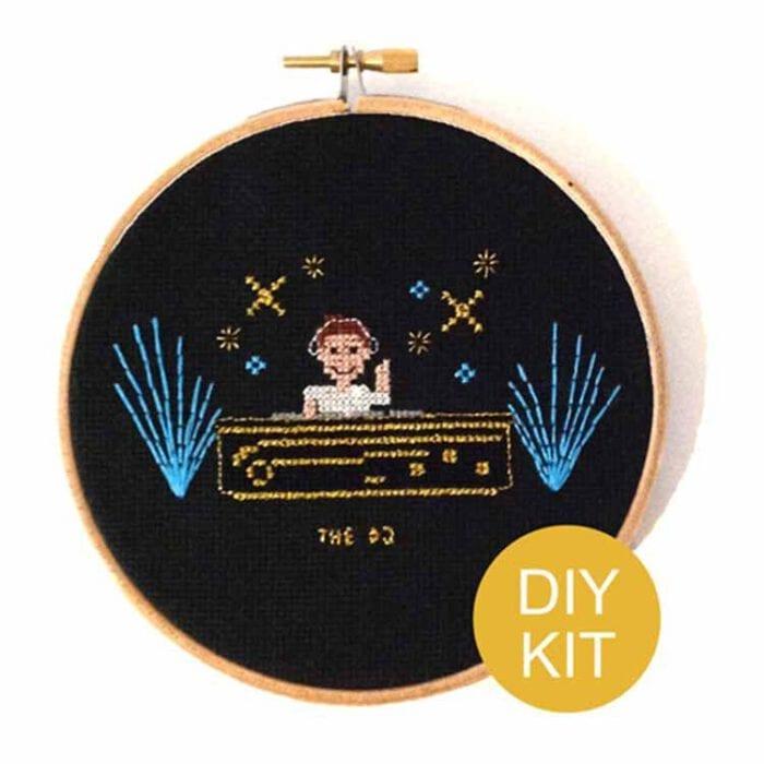 stitchajob male dj cross stitch kit