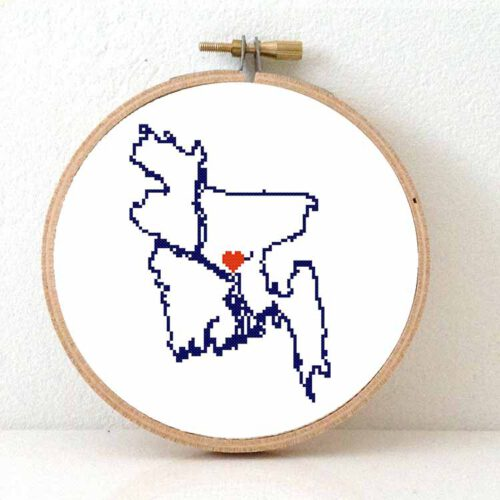 stitchamap Bangladesh cross stitch pattern