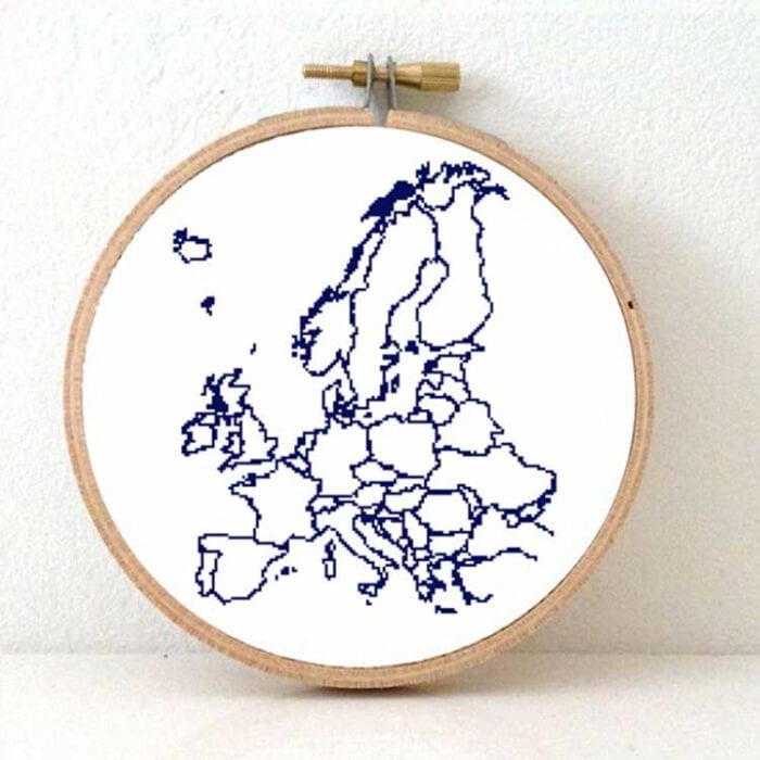 stitchamap - continent xl europe map cross stitch pattern