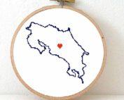 stitchamap Costa Rica cross stitch pattern