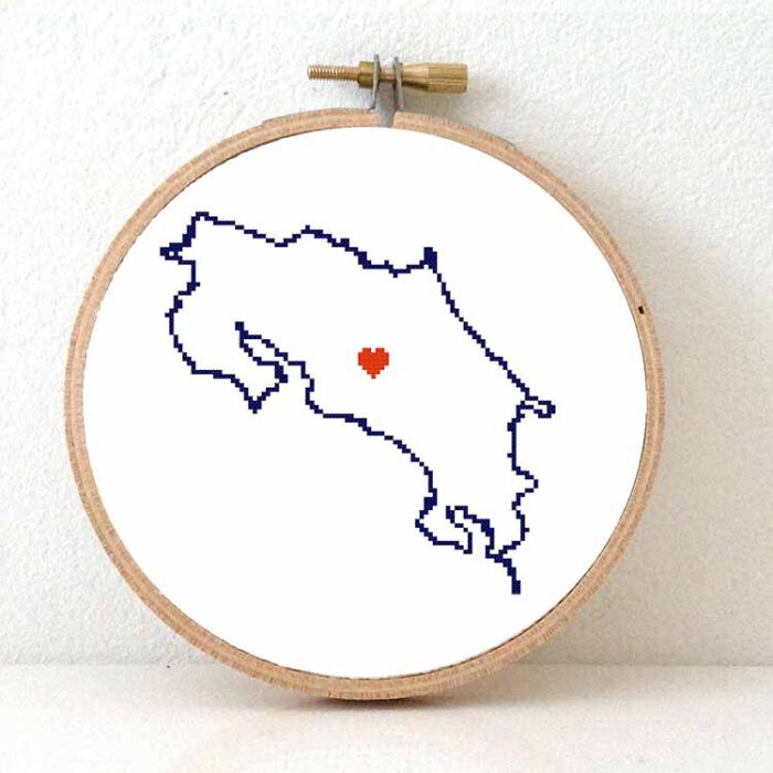 stitchamap Costa Rica cross stitch pattern