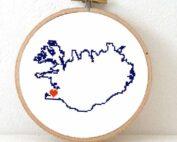stitchamap Iceland cross stitch pattern