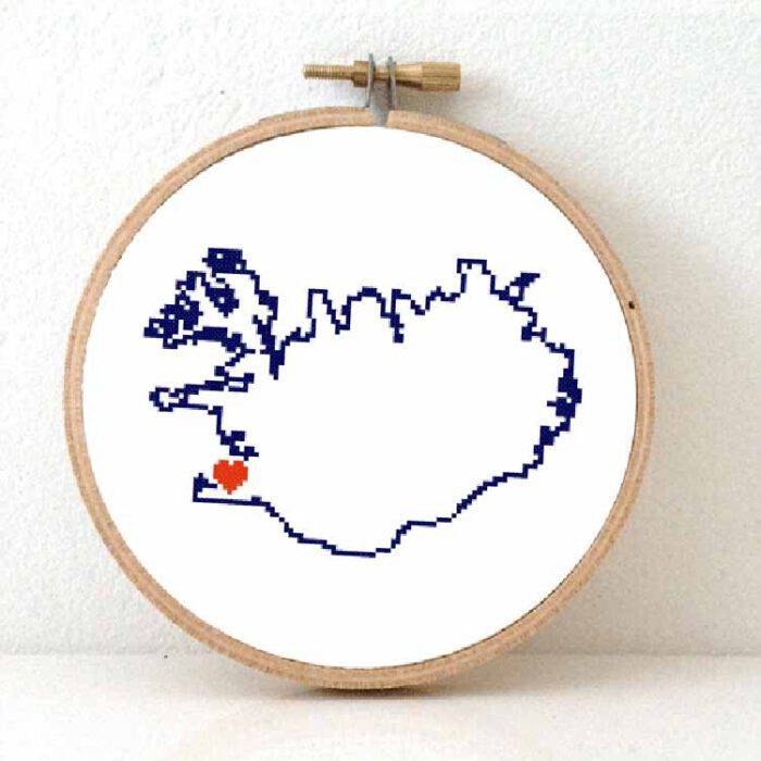 stitchamap Iceland cross stitch pattern