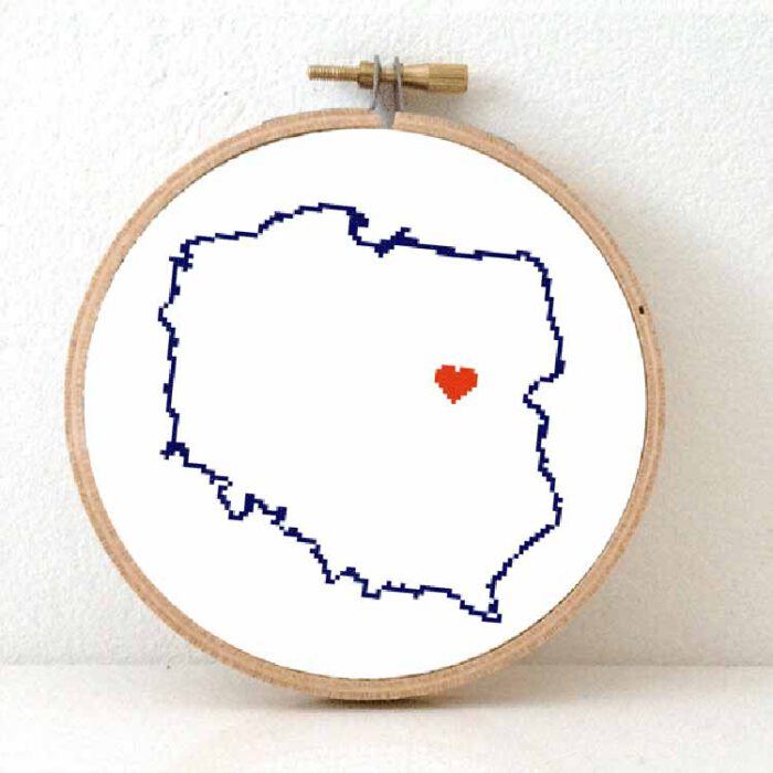 stitchamap Poland cross stitch pattern