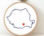 stitchamap Romania cross stitch pattern