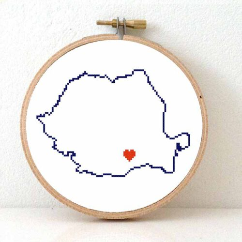 stitchamap Romania cross stitch pattern