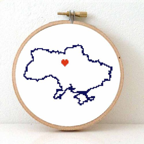 stitchamap Ukraine cross stitch pattern