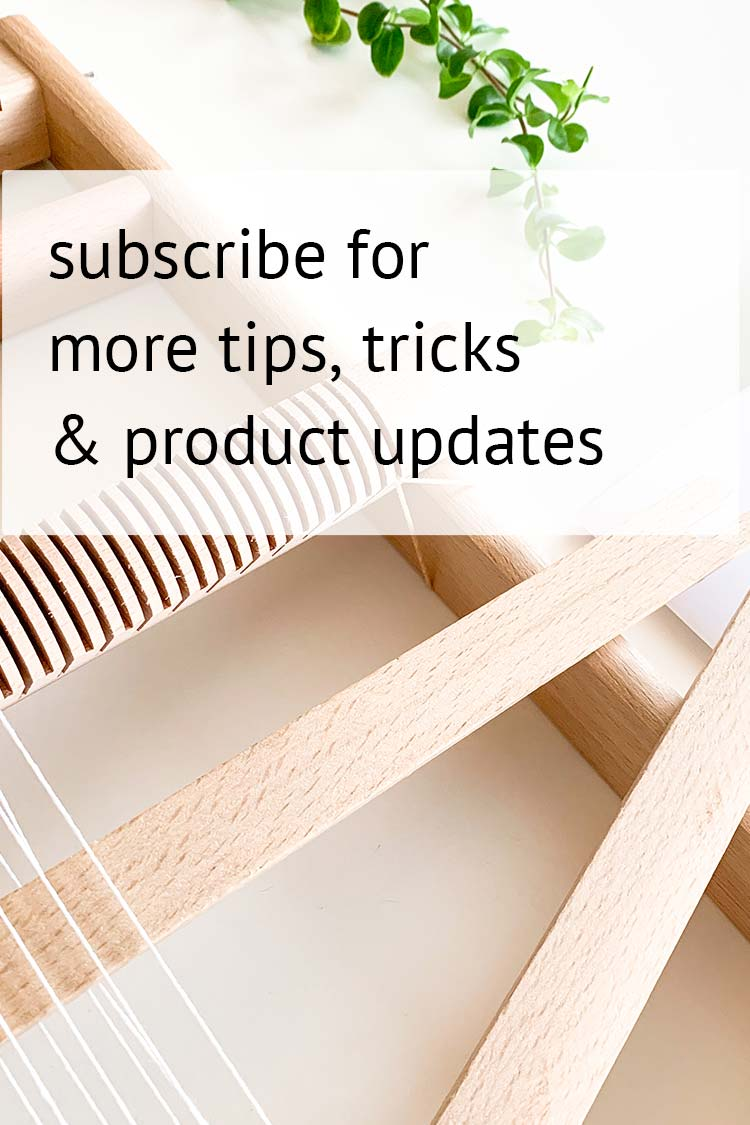 subscribe weaving blog