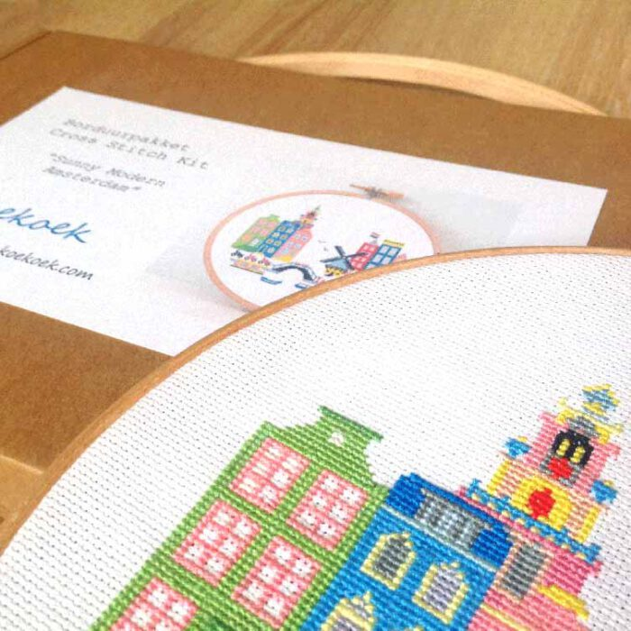 sunny modern amsterdam crpss stitch kit