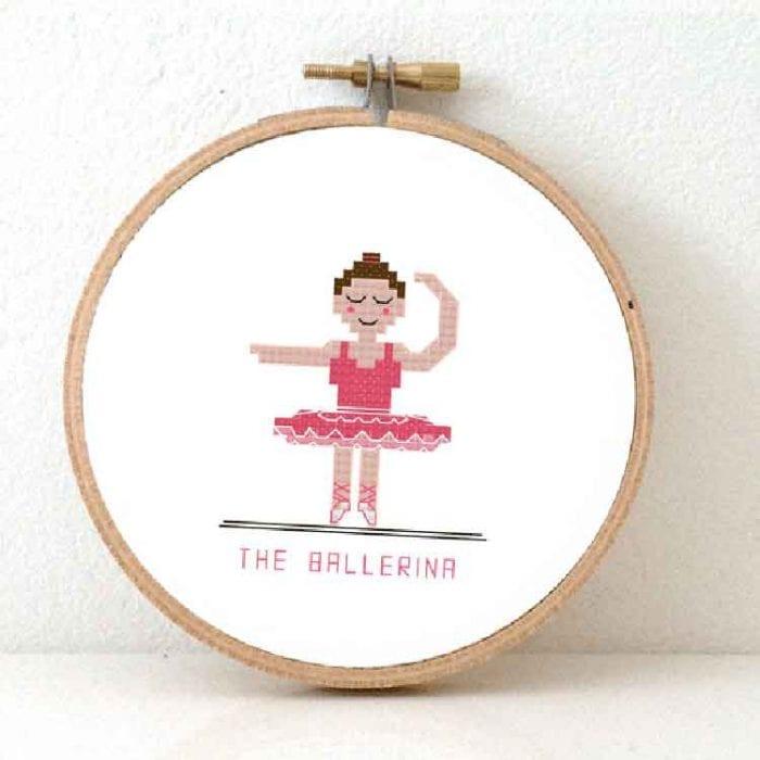 the ballerina cross stitch pattern