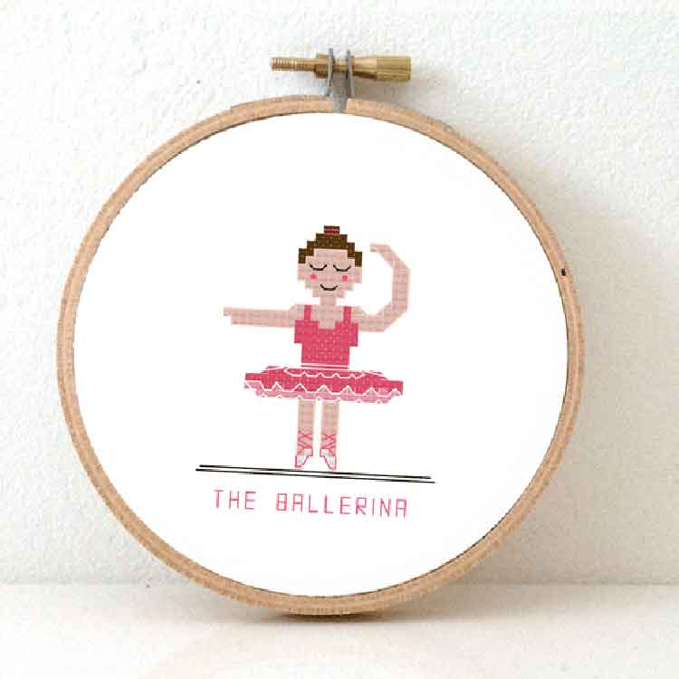 the ballerina cross stitch pattern