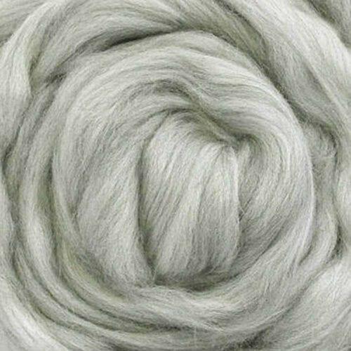 undyed australian wool roving gray
