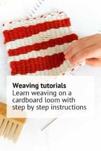 weaving tutorial on cardboard loom