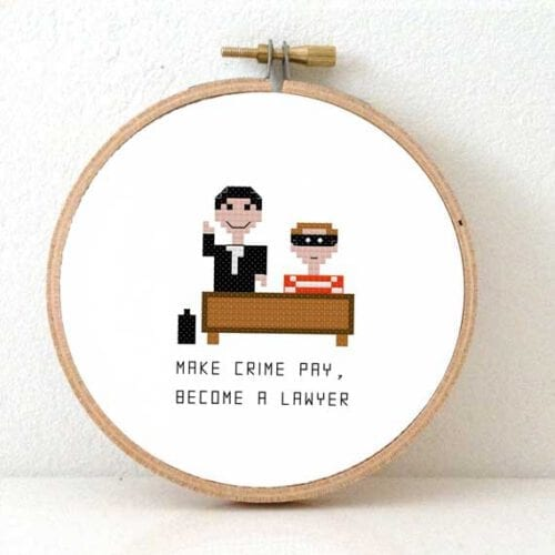 male lawyer cross stitch pattern