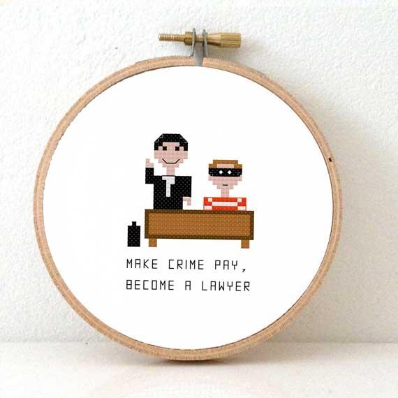 male lawyer cross stitch pattern